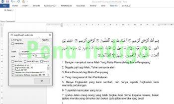 quran in word terbaru support office 2013 dan 2016