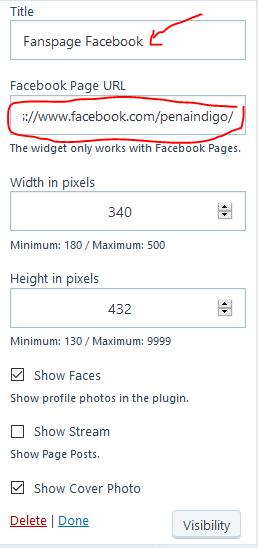 Cara Memasang Fanspage Facebook di Blog WordPress Com