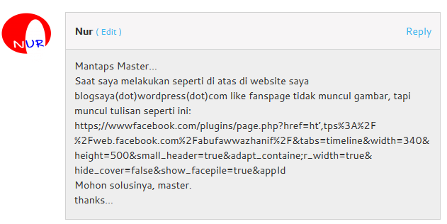 Cara Memasang Fanspage Facebook di Blog WordPress