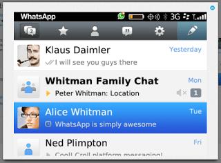 Aplikasi WhatsApp untuk BlackBerry
