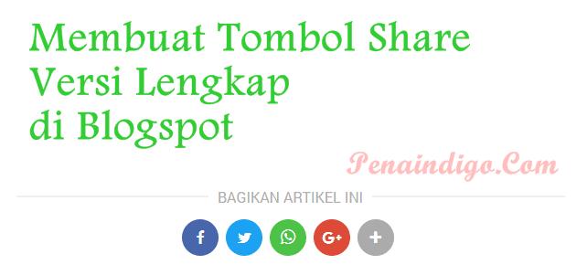 tombol share keren blogger blogspot
