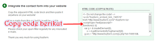 contact form di website