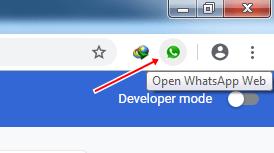 membuka whatsapp web
