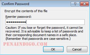 mengunci dokumen microsoft word