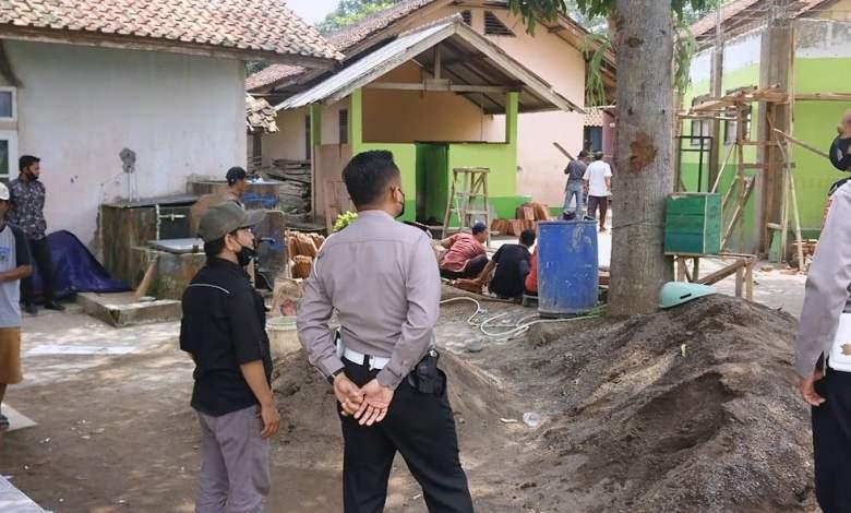 HUT LANTAS ke 66, Polres Cianjur Kunjungi Pembangunan Mesjid
