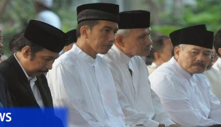 Presiden Jokowi salat ied di Banten
