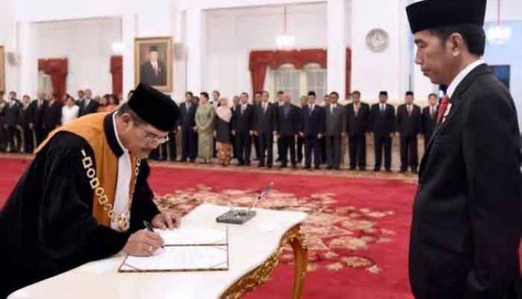 pelantikan ketua MA Hatta Ali