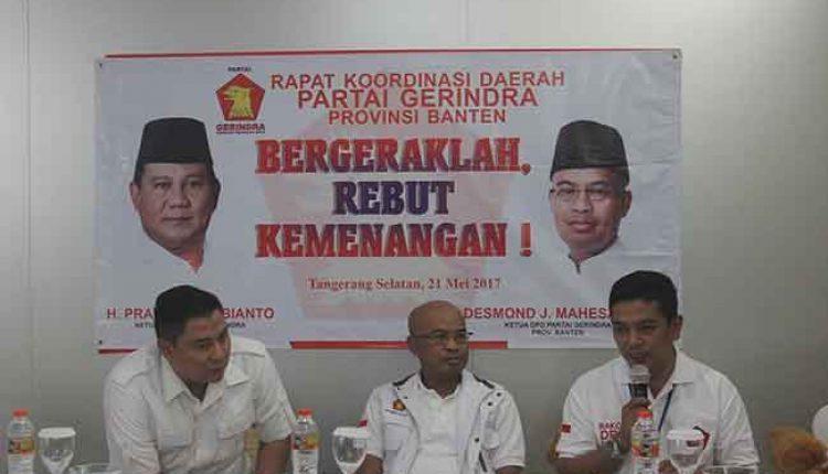 Rakorda Gerindra Banten pilkada