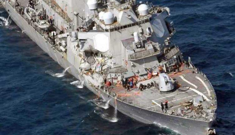 awak kapal perang hilang AS