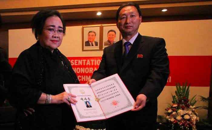 Putri Bung Karno Rachmawati bertemu presiden korea utara