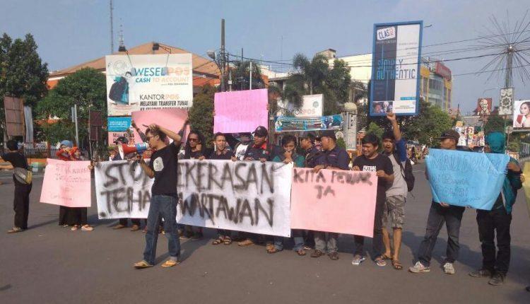 Insiden Kekerasan Polisi, Wartawan Demo di Polres Kota Serang