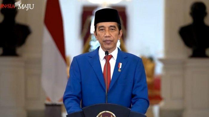 Presiden Joko Widodo Menyampaikan Pidato Secara Virtual Dalam Sidang Majelis Umum Pbb
