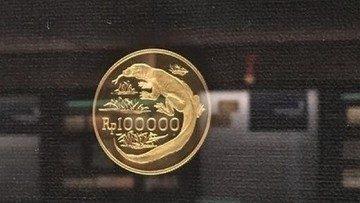 uang rupiah logam berbahan emas 169