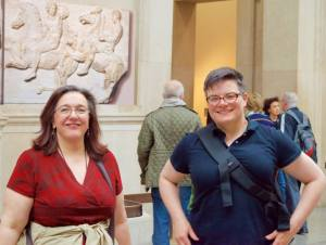 Me with Melissa Kaercher in the British Museum, 2015