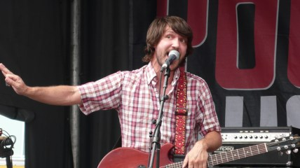 Photo of Cursive frontman Tim Kasher as he performs at the 2009 Westword Music Showcase in Denver, Colo.