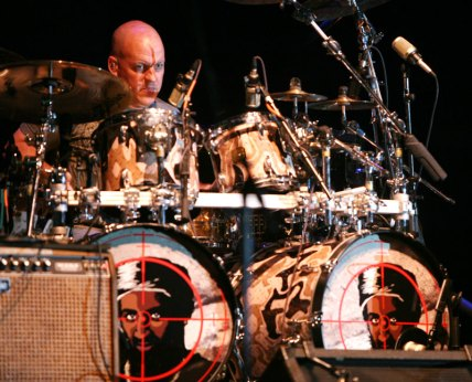 Pat McDonald, drummer for the Charlie Daniels Band, during the band's performance at the Alberta Bair Theater.
