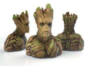 Groot Sculpture printed
