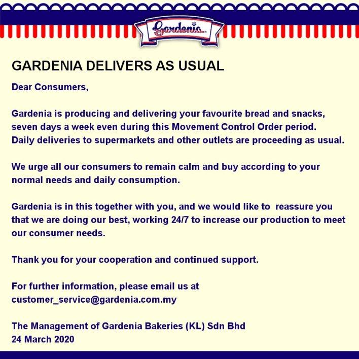 Gardenia out of stock