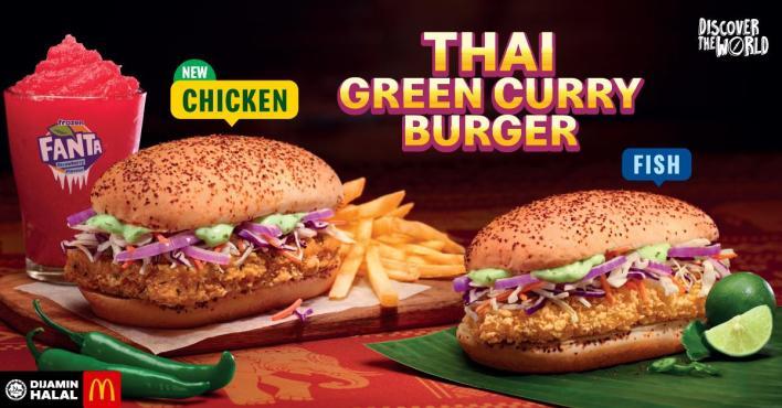 Mcdonalds thai green curry burger