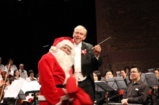 Santa's annual visit to the Family Christmas Concert