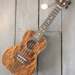 Butterfly wood Concert Ukulele available at Penarth Music Centre