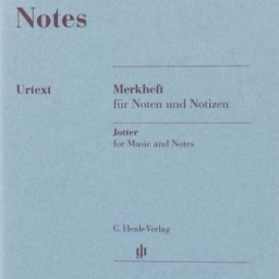 Henle Notes Manuscript Jotter available at Pencerdd Music Store Penarth