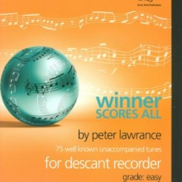 Lawrance: Winner Scores All for Descant Recorder with CD available from Pencerdd Music Shop, Penarth