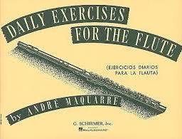 Andre Maquarre: Daily Exercises For The Fluteavailable from Pencerdd Music Shop, Penarth