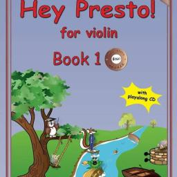 Hey Presto Violin Book 1 available at Pencerdd Music Store Penarth near Cardiff