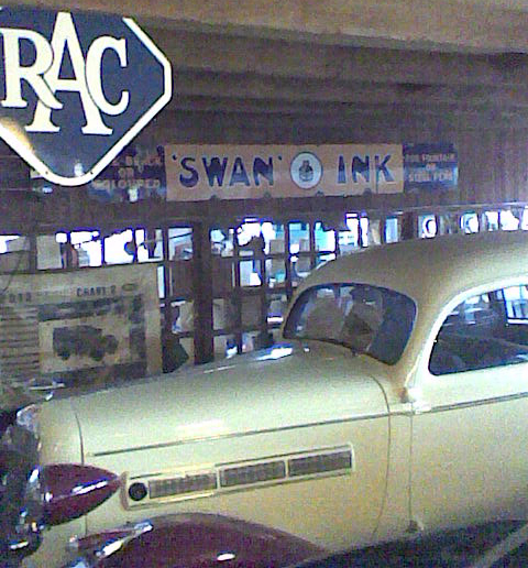 Swan ink enamelled sign.