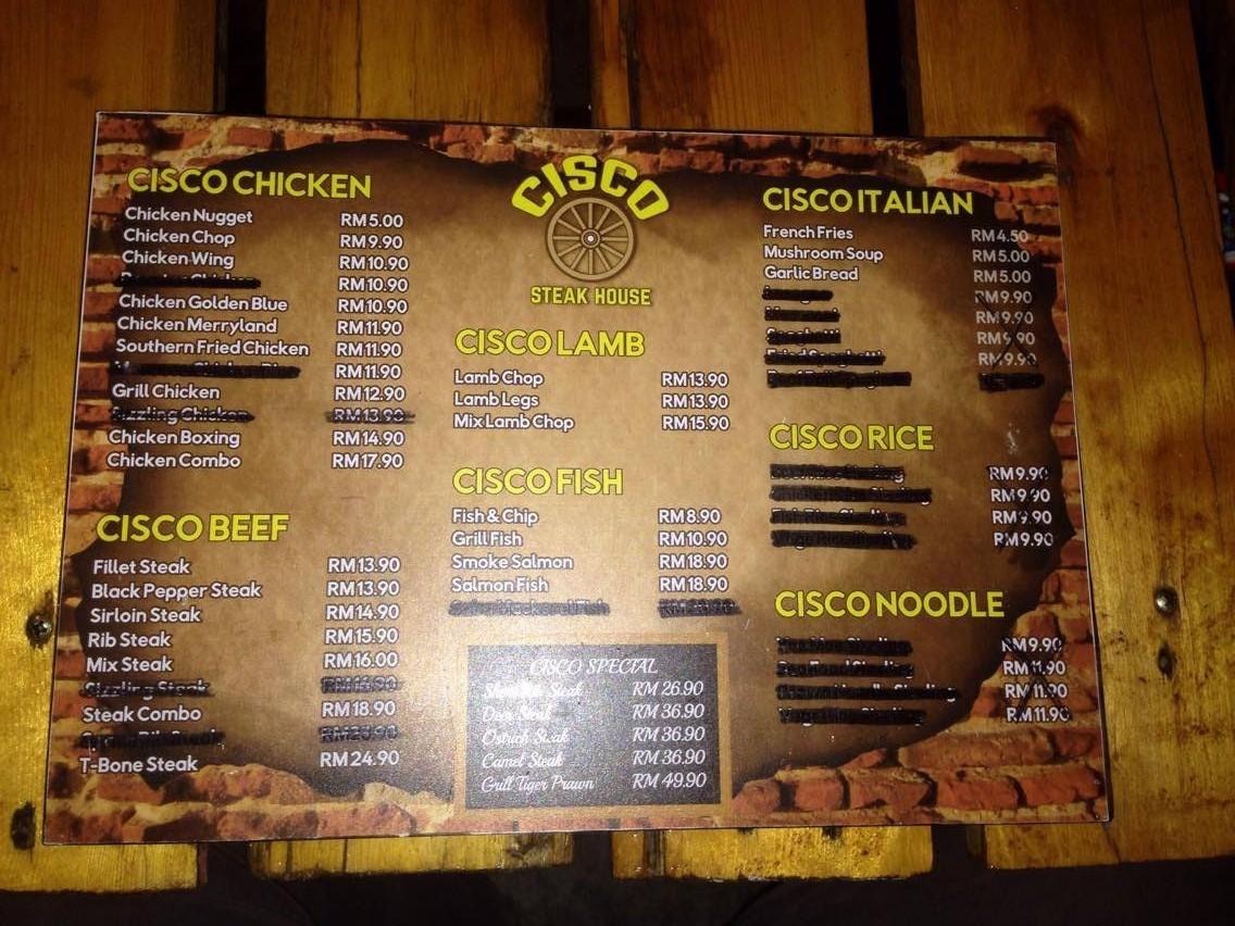 kedai makan sedap CISCO Steak House Putrajaya Bandar Baru Bangi