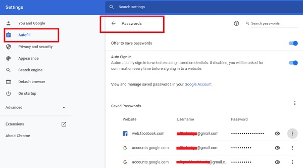 melihat password di google chrome