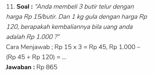 Contoh soal matematika dasar tes kerja nomor 9. 20 Contoh Soal Psikotes Matematika Dalam Bentuk Cerita