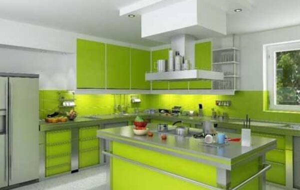 Kitchen Set Warna Hijau