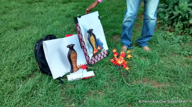 Finearts Sessions at cubbon park A perfect still life and portrait drawing day! - 10 IMG 20140706 131840130 HDR - A perfect still life and portrait drawing day!