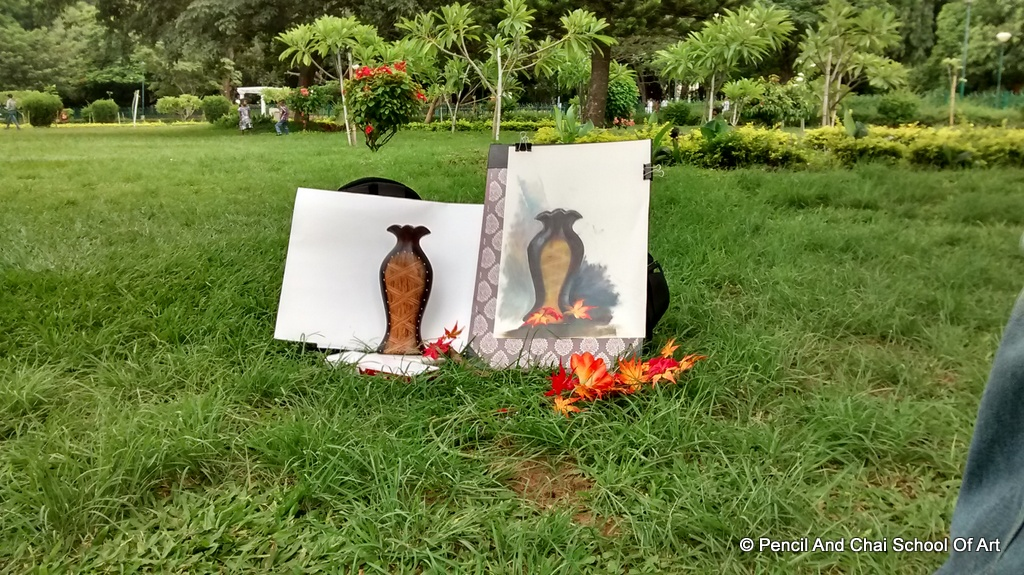 Finearts Sessions at cubbon park A perfect still life and portrait drawing day! - 11 IMG 20140706 131914469 HDR - A perfect still life and portrait drawing day!