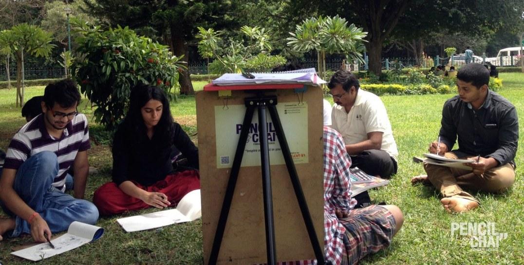 Portrat drawing fundamentals #Pencilandchai sunday outdoor art session - Portrat drawing fundamentals Pencilandchai  - Sunday outdoor art session