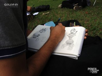 Line drawing fundamentals #PencilAndChai #ColorIn2 sunday outdoor art session - Line drawing fundamentals PencilAndChai ColorIn2 - Sunday outdoor art session