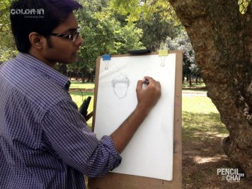 Tips and Tricks to draw hair- Sunday outdoor art session sunday outdoor art session - Line drawing fundamentals PencilAndChai ColorIn9 - Sunday outdoor art session