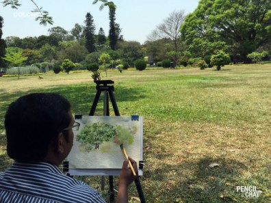 Watercolor Demo at Pencil And Chai learning watercolor? these 7 techniques that helps artists! - PAC 92 WatercolourArt   Sketching Classes in Bangalore 19 - Learning Watercolor? These 7 Techniques that Helps Artists!