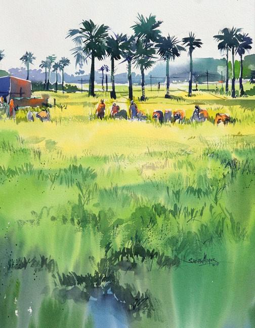 Sadhu Aliyur_Watercolor_PencilAndChaii weekend regular sketching classes - IMG 0631 - While you were away from PAC weekend regular sketching classes!