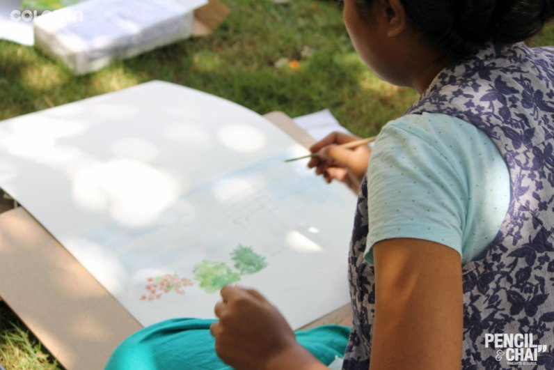 Hues of Watercolor_Watercolor workshops in Bangalore_Coloring India0049
