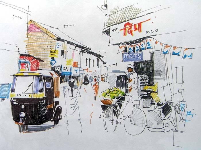 10897784_10204798735001092_2930829181345681396_n art workshops in bangalore - 10897784 10204798735001092 2930829181345681396 n - Hues of Watercolor-3, Watercolor workshop by Milind Mulick- Art workshops in Banaglore