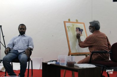 IMG_2568 painting workshop - IMG 2568 - Hues of Watercolor 6 Painting Workshop in bangalore-Vasudeo Kamath