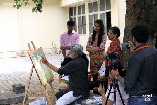 IMG_2821 painting workshop - IMG 2821 - Hues of Watercolor 6 Painting Workshop in bangalore-Vasudeo Kamath