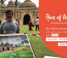 Watercolor painting workshop by Milind Mulick in Banaglore [object object] Fine Arts Gurukul: Join for Weekend Art Classes in Bangalore Watercolor workshop by Milind Mulick Hues of watercolor 12th Edition by Coloring India Foundation 220x192