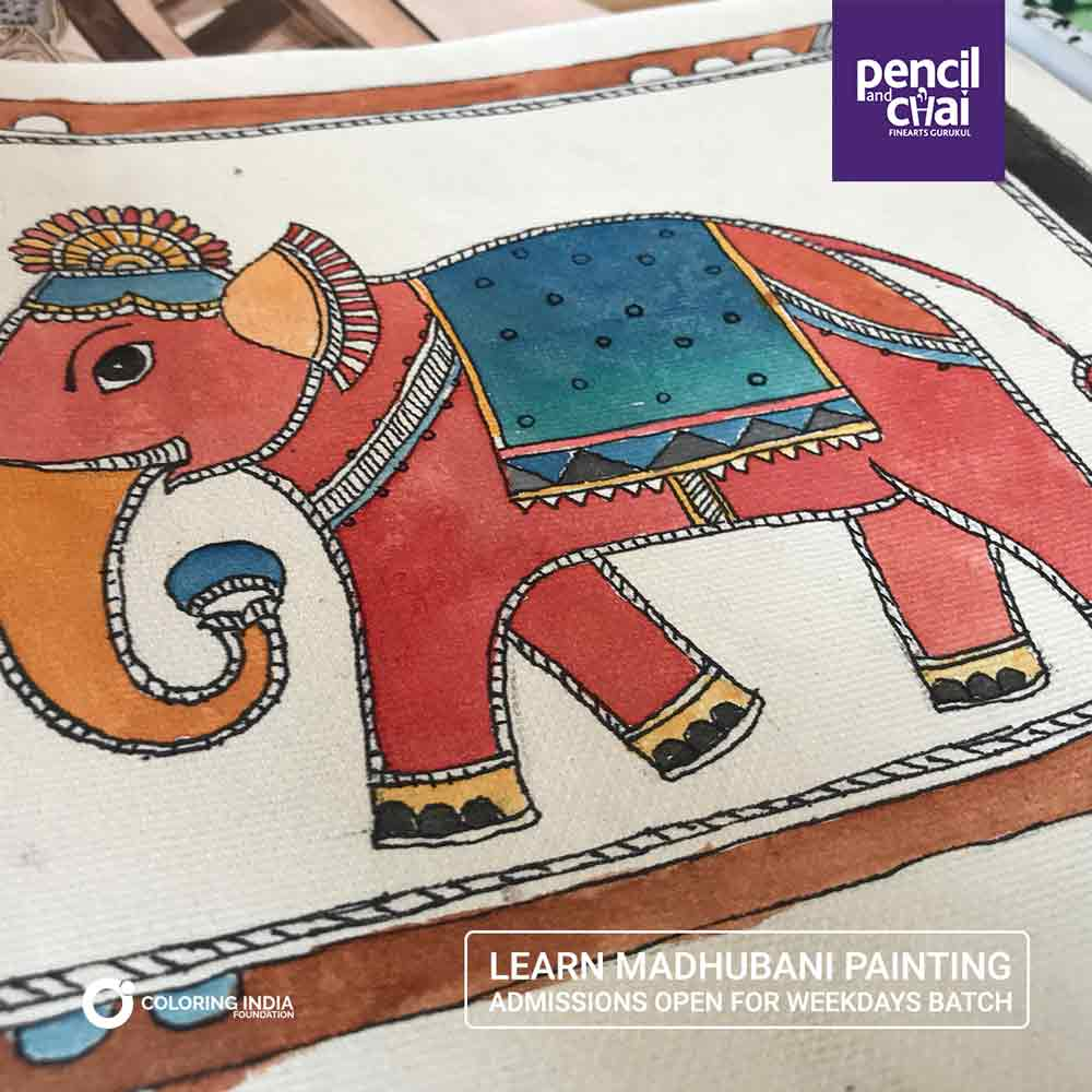 Madhubani-Painting-Classes-by-Pencil-And-Chai madhubani painting courses - Madhubani Painting Classes by Pencil And Chai - Madhubani Painting Classes by Pencil And Chai