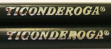 Dixon Ticonderoga #2HB stamping close-up