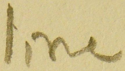 Writing sample from a Dixon Ticonderoga #2HB