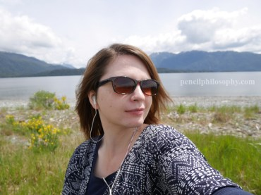 Te Anau lakefront selfie